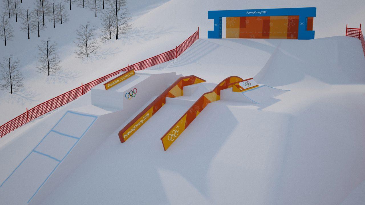 Olympia 2018 Slopestyle Setup (1/10)