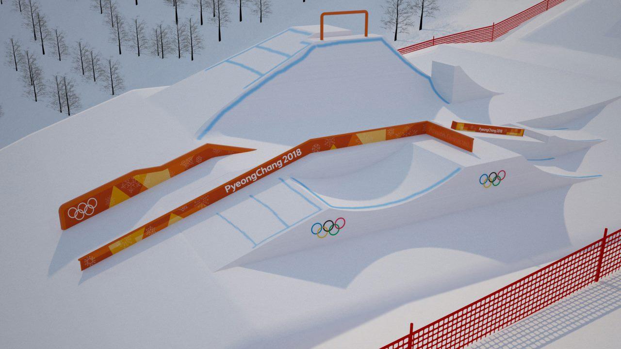 Olympia 2018 Slopestyle Setup (2/6)
