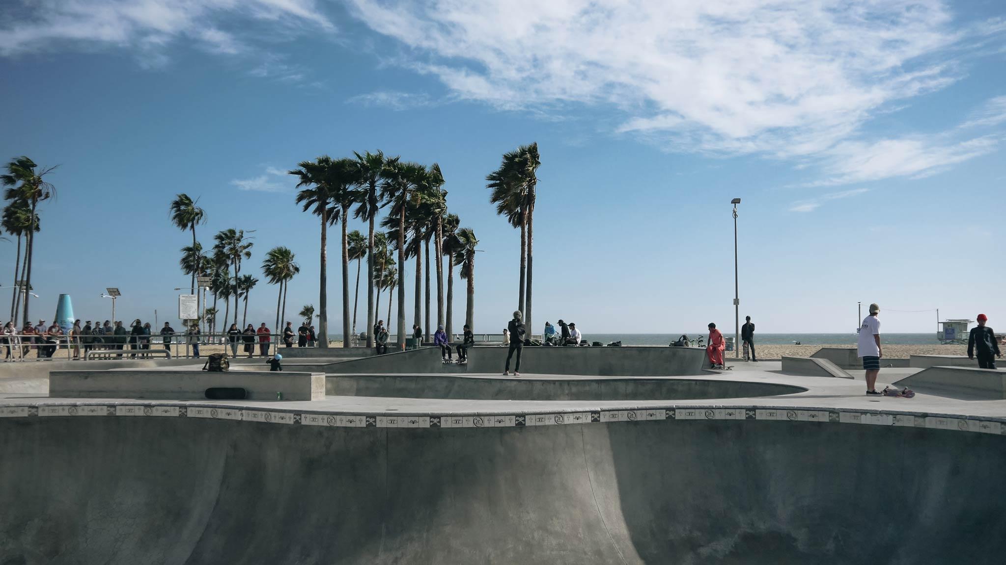 Pflichttermin bei einem Besuch in LA: Der Venice Beach Skatepark