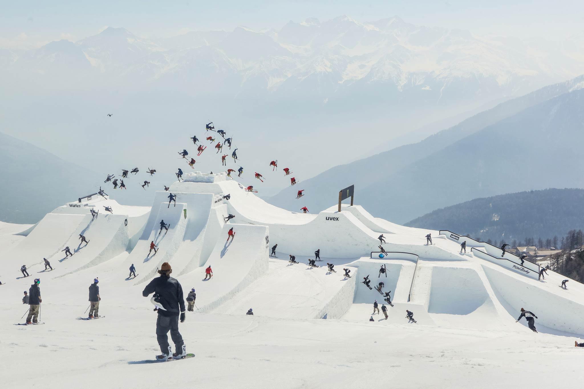 Mit immer neuen Schneekonstruktionen sorgten die Nine Knights & Queens Events in den letzten Jahren für spektakuläre Bilder - Foto: David Malacrida