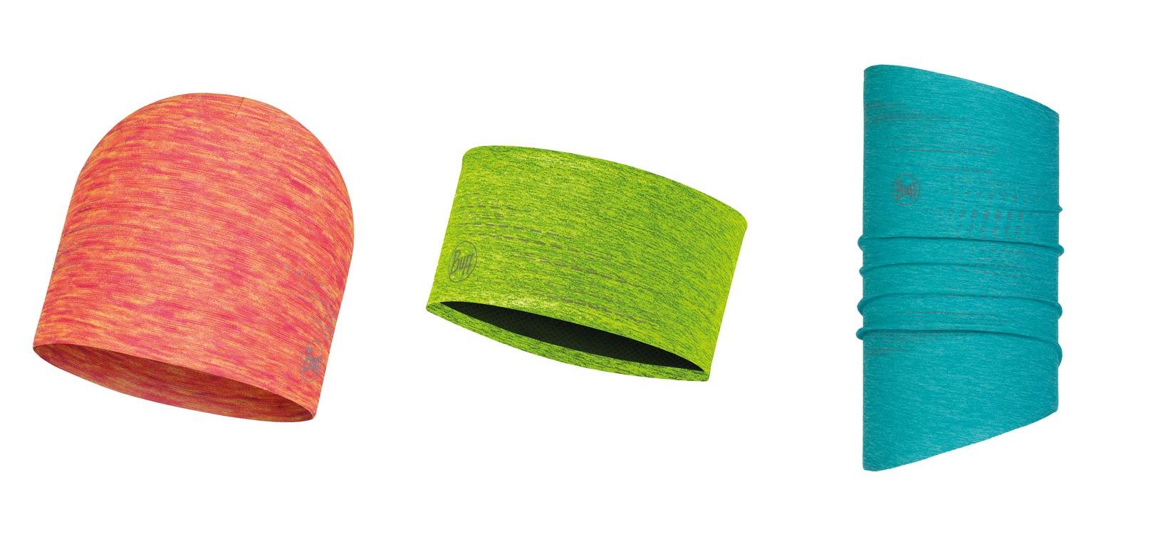 BUFF 18/19 Produkte aus DRYFLX: Hat, Headband und Neckwarmer