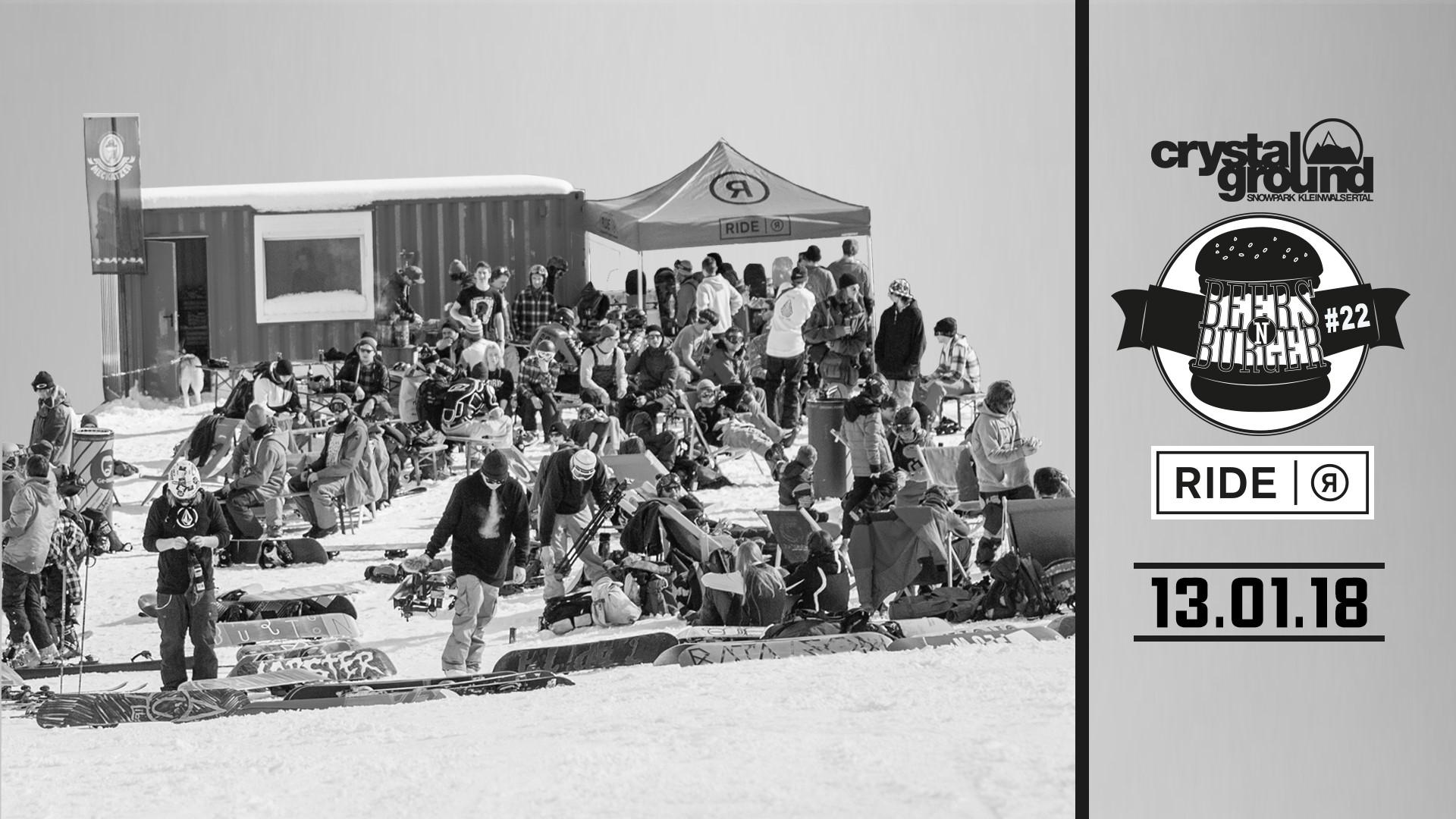 Die Beers'N'Burger Session ist zurück - Im Crystal Ground Snowpark (+ 7 Bilder vom Setup)