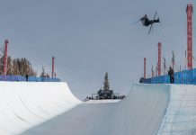 Slopestyle Worldcup in Mammoth, Kalifornien (USA) - Halfpipe Qualifikation - Foto: facebook.com/fisfreestyle