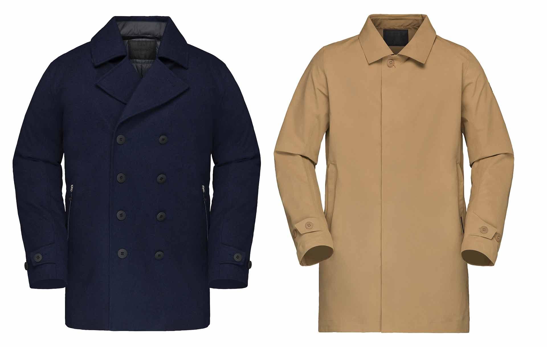 ACE Pea Coat & Gore-Tex Coat – zwei klassiche Styles, wie man sie von Norrøna bisher nicht kannte.