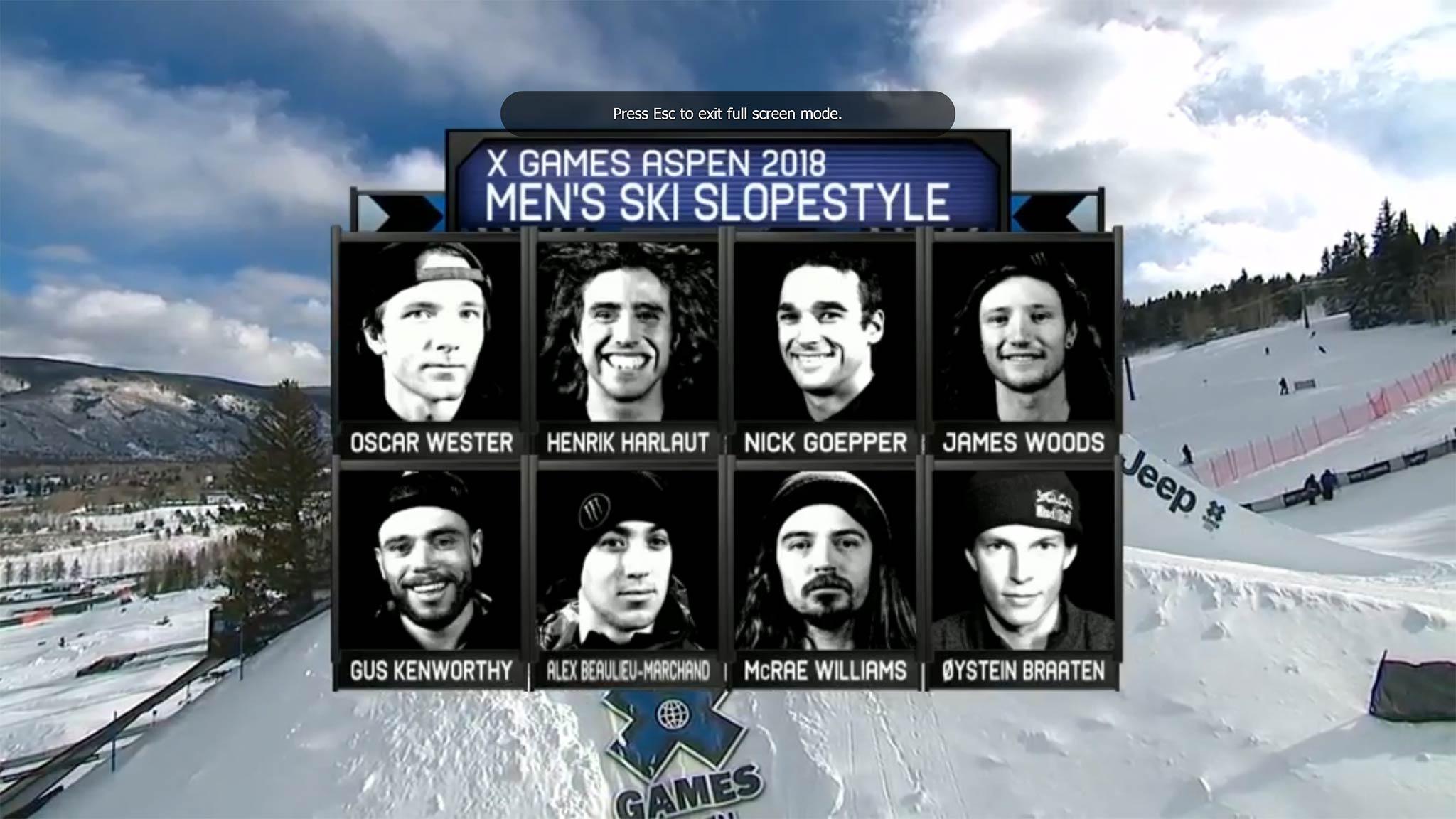 Diese 8 Rider stehen bei den Winter X Games 2018 in Aspen am Sonntag im Slopestyle Finale