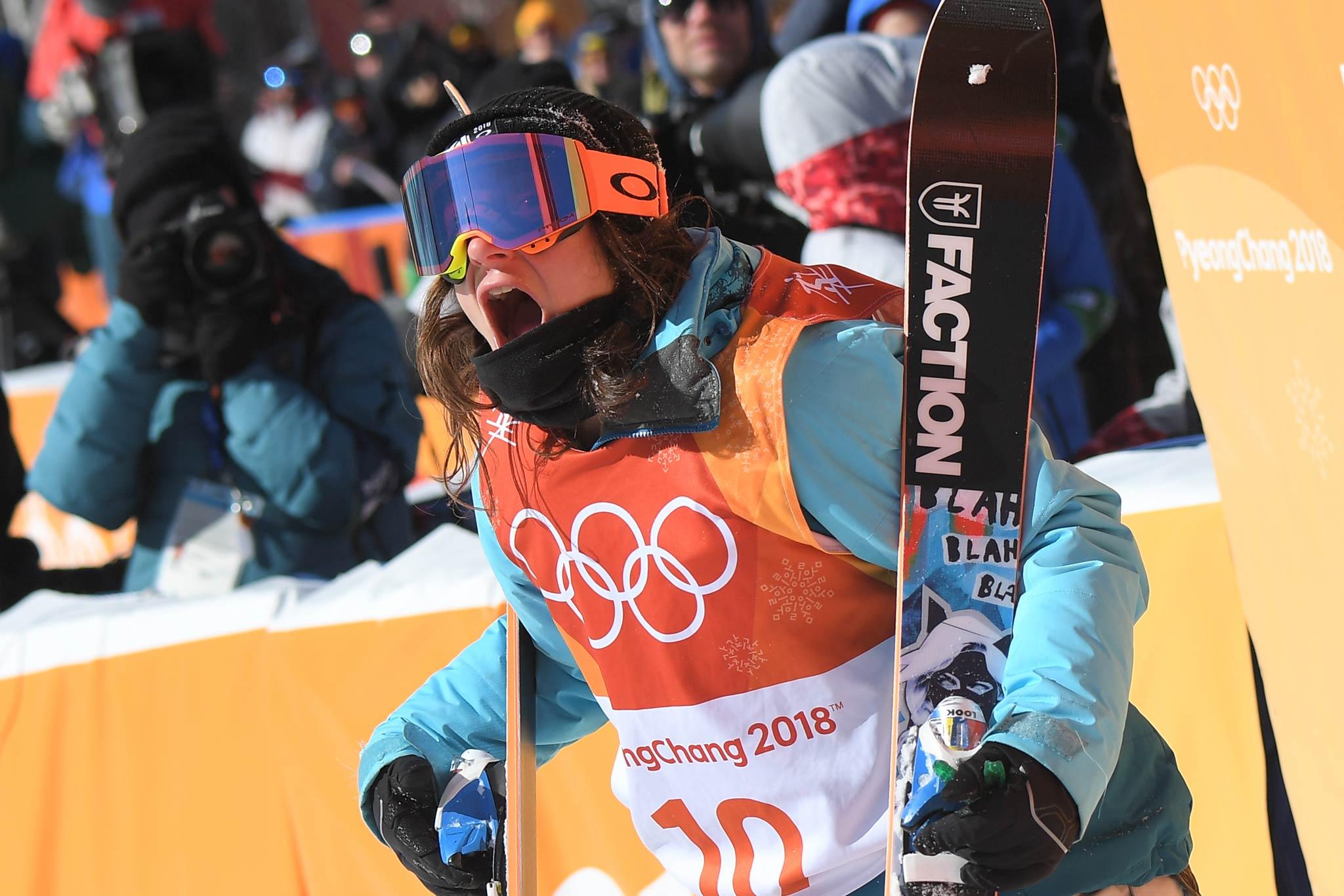 Hat sich das Slopestyle Gold verdient: Sarah Hoefflin - Foto: Eurosport