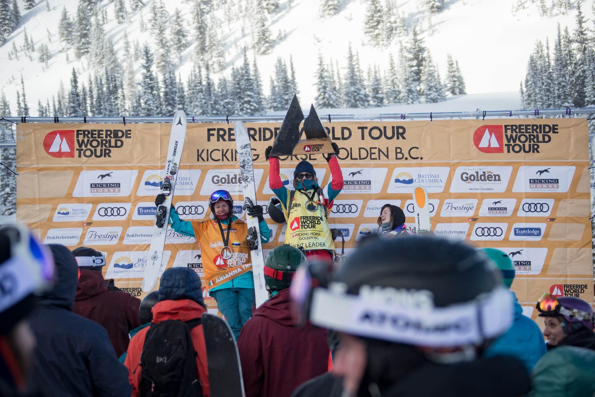 Pehota und Walkner gewinnen Freeride World Tour Premiere in Kicking Horse (British Columbia)