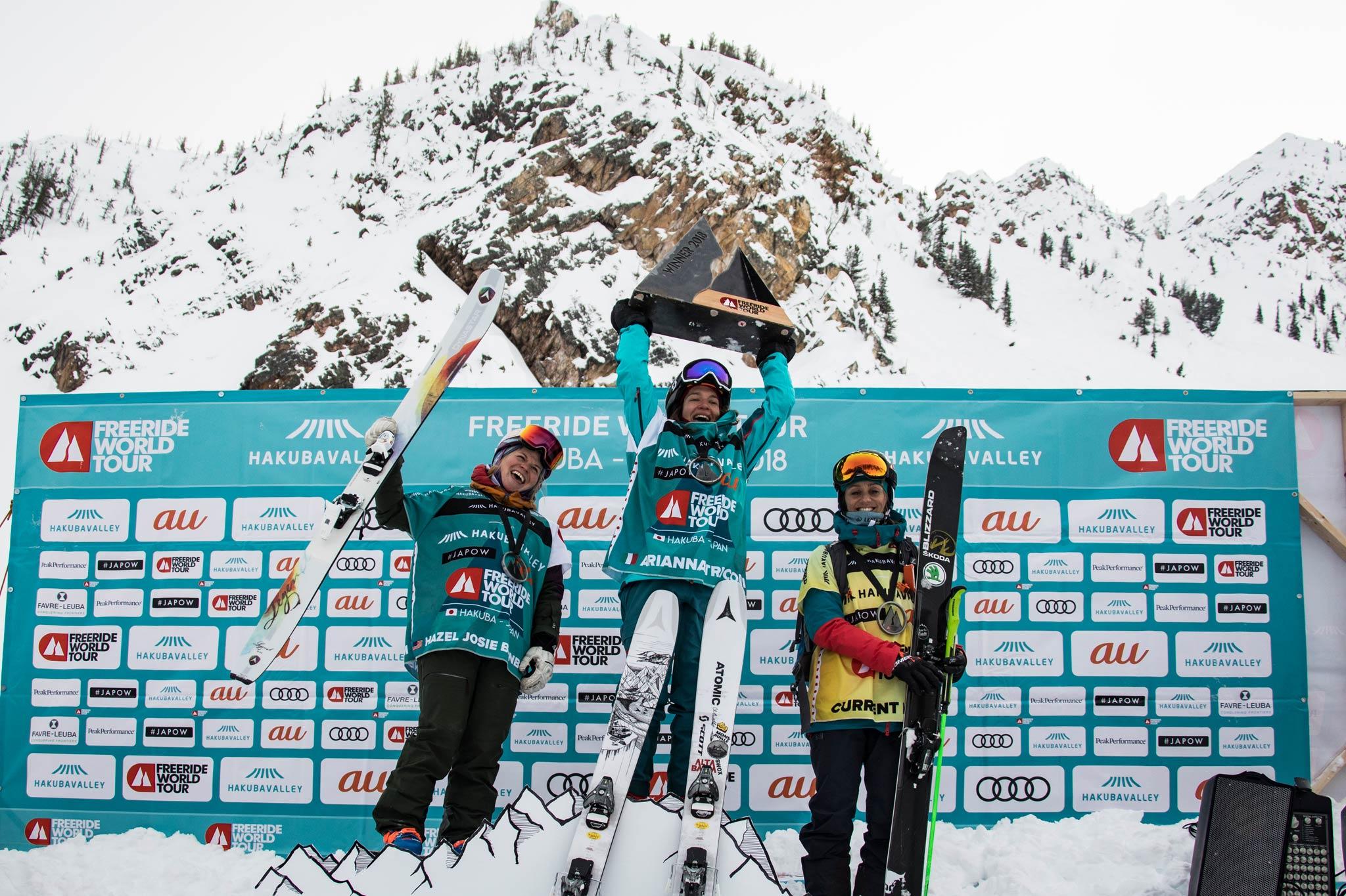 Tricomi und Malakhov gewinnen den japanisch-kanadischen Stopp bei der Freeride World Tour
