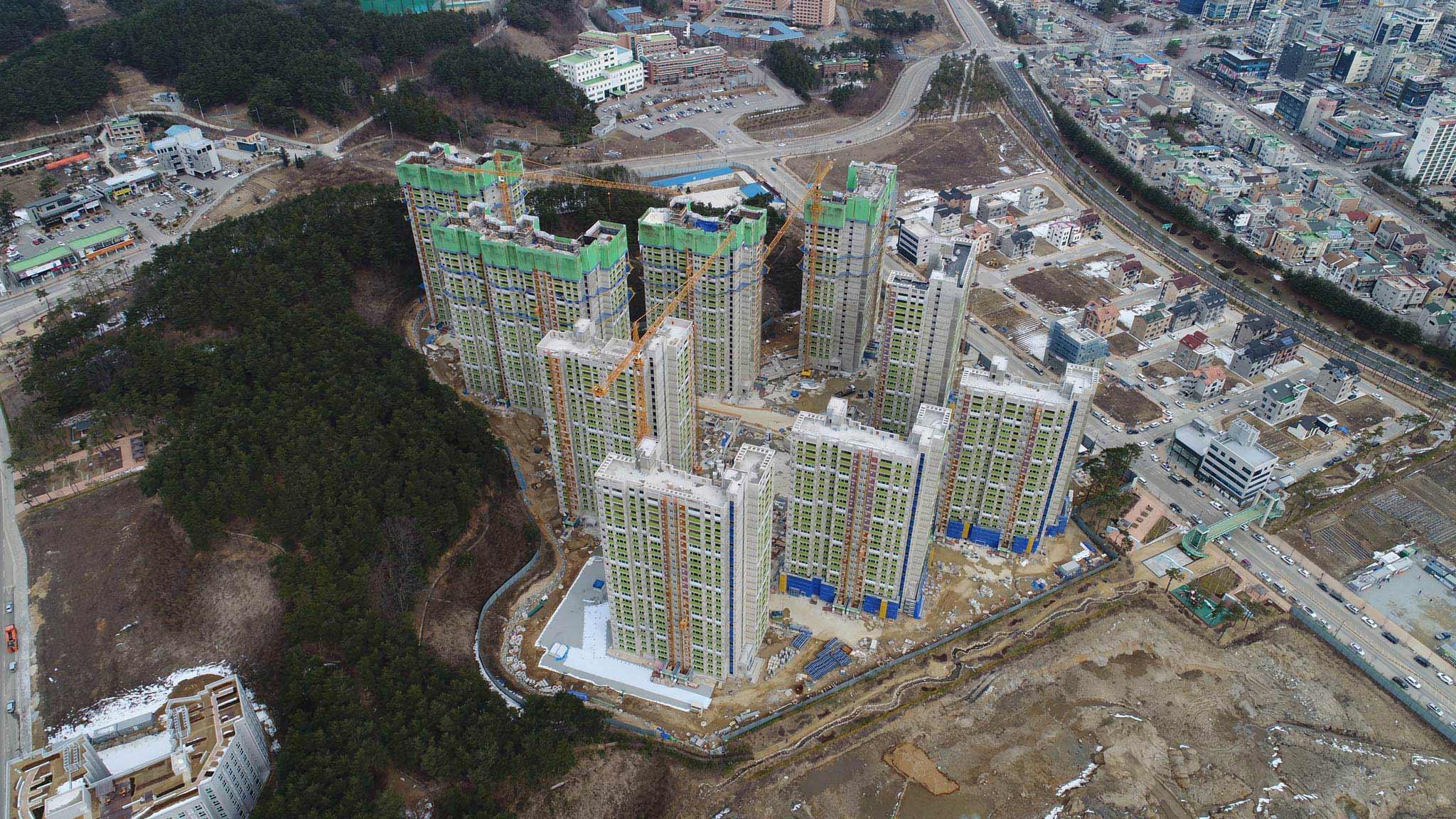Das Olympische Dorf aus der Vogelperspektive - Foto: olympic.org/photos/pyeongchang-2018/venues