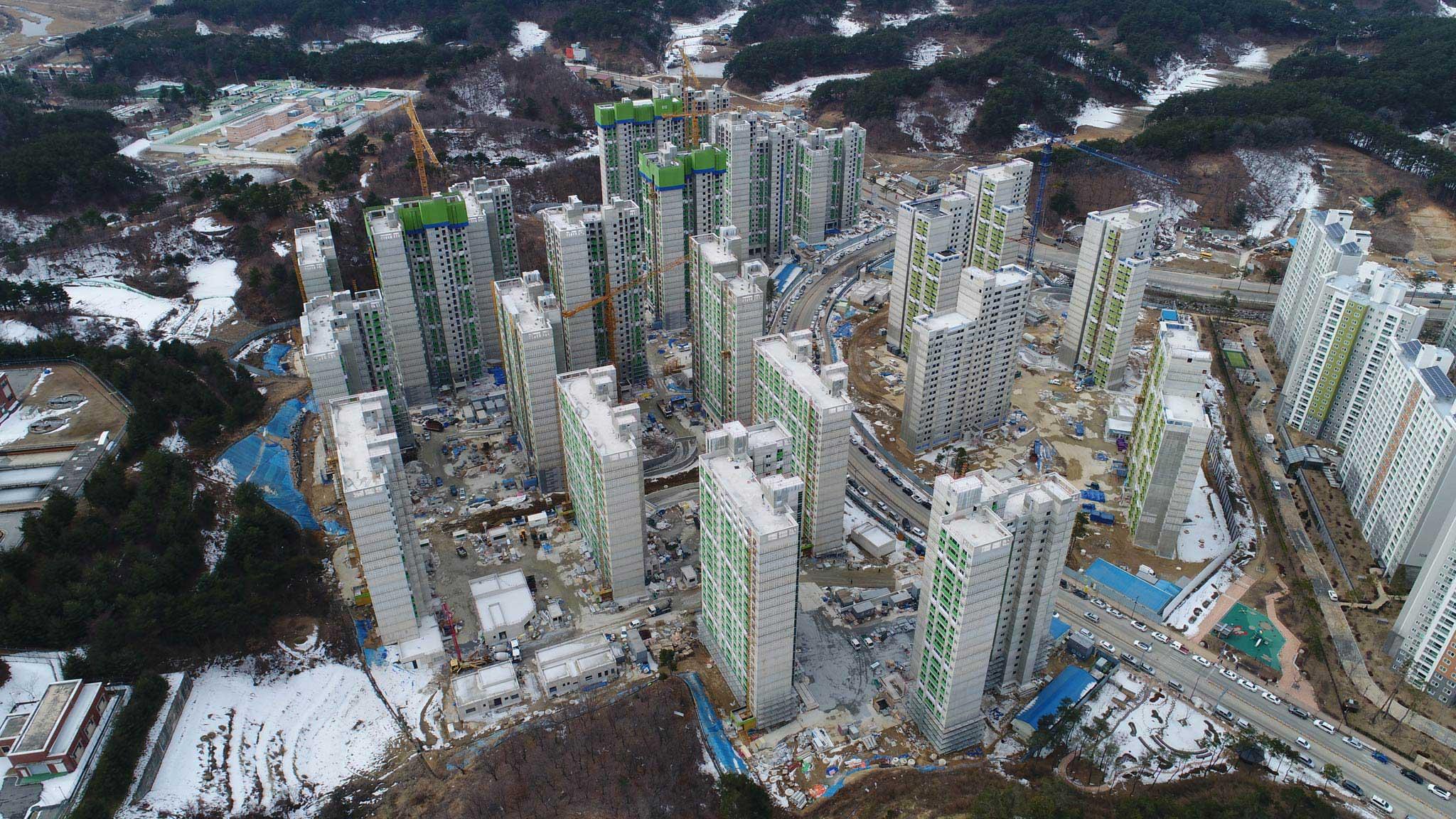 Das Media Village aus der Vogelperspektive - Foto: olympic.org/photos/pyeongchang-2018/venues