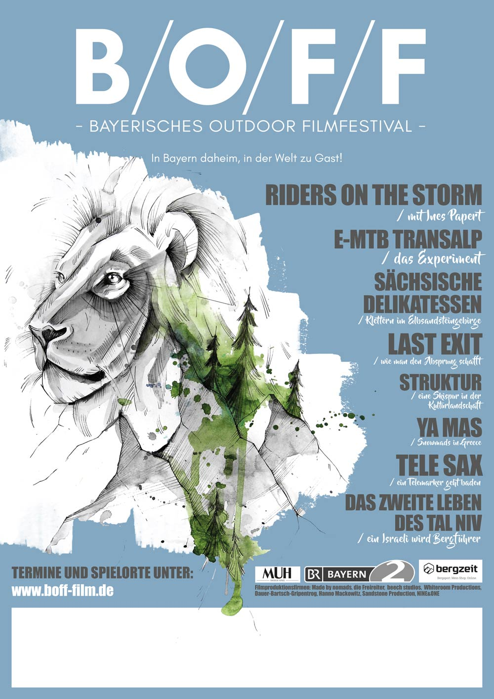 Bayerisches Outdoor Filmfestival 2018 - B/O/F/F - Flyer