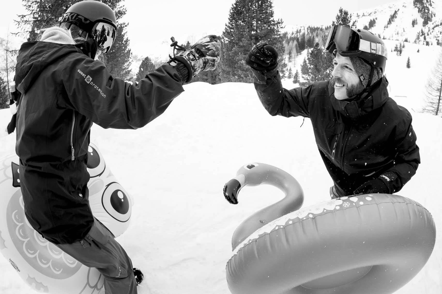Fist-Bump und los geht's! - Foto: Patrick Steiner