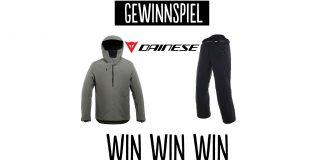 Gewinnspiel: Dainese Outerwear Kombi (AWA M3 Jacket + HP2 P M1 Pants)
