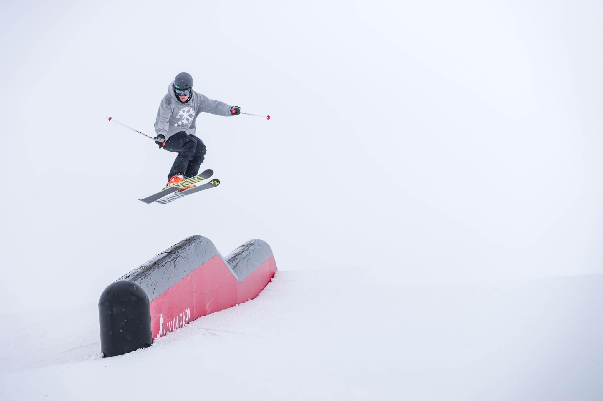 Die von Schneestern gebauten Post-Tubes sind in mehreren Variationen im Snowpark Montafon vorhanden - Foto: Markus Reisacher