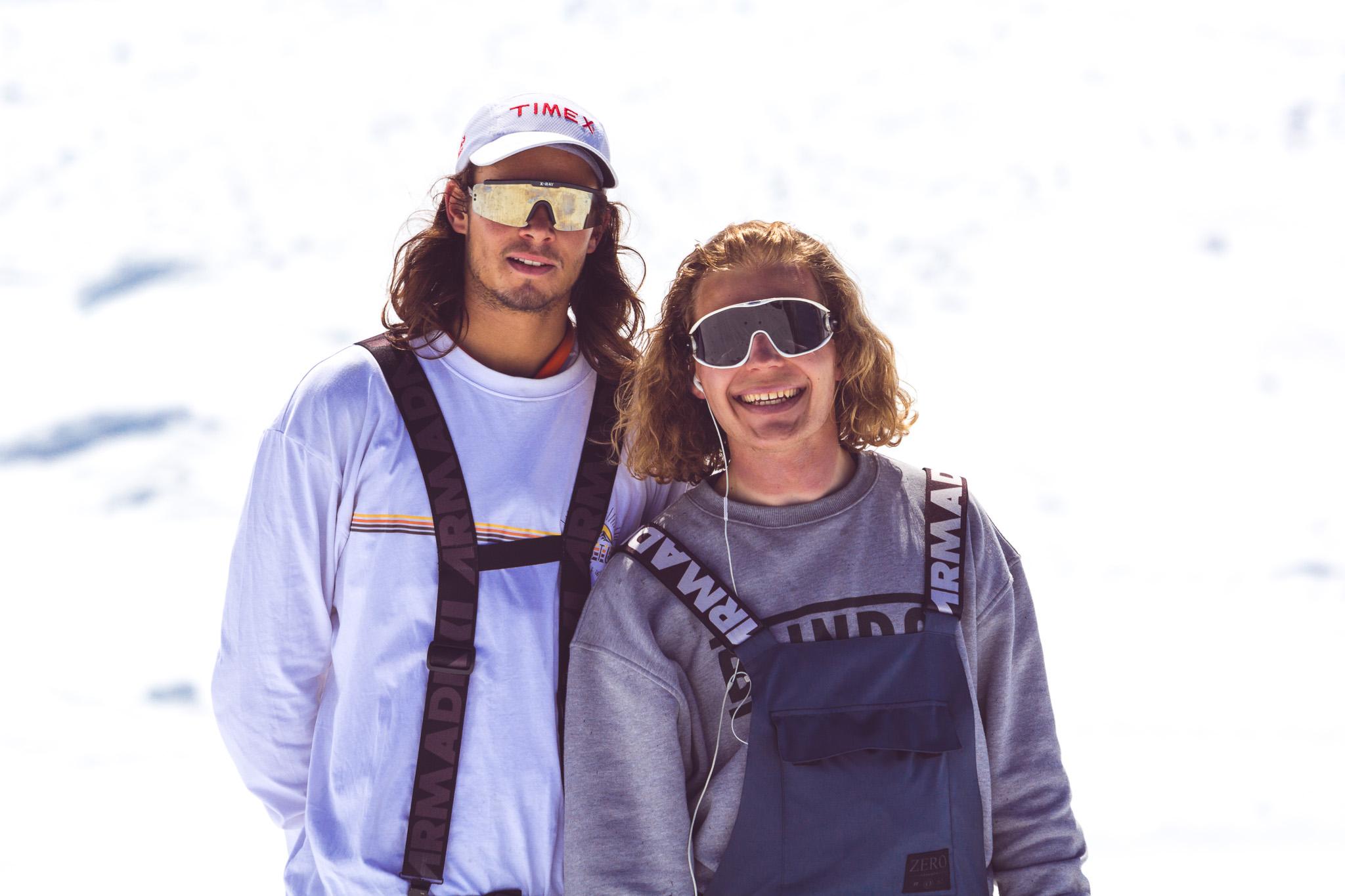 Ob diese beiden Styler wohl dieses Jahr auch wieder kommen? Findet es heraus und kommt in den Snowpark Kaunertal zu den Spring Classics 2018!