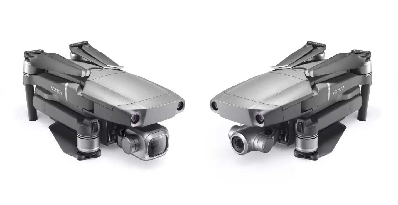 Mavic 2 Pro (links) und Mavic 2 Zoom (rechts)