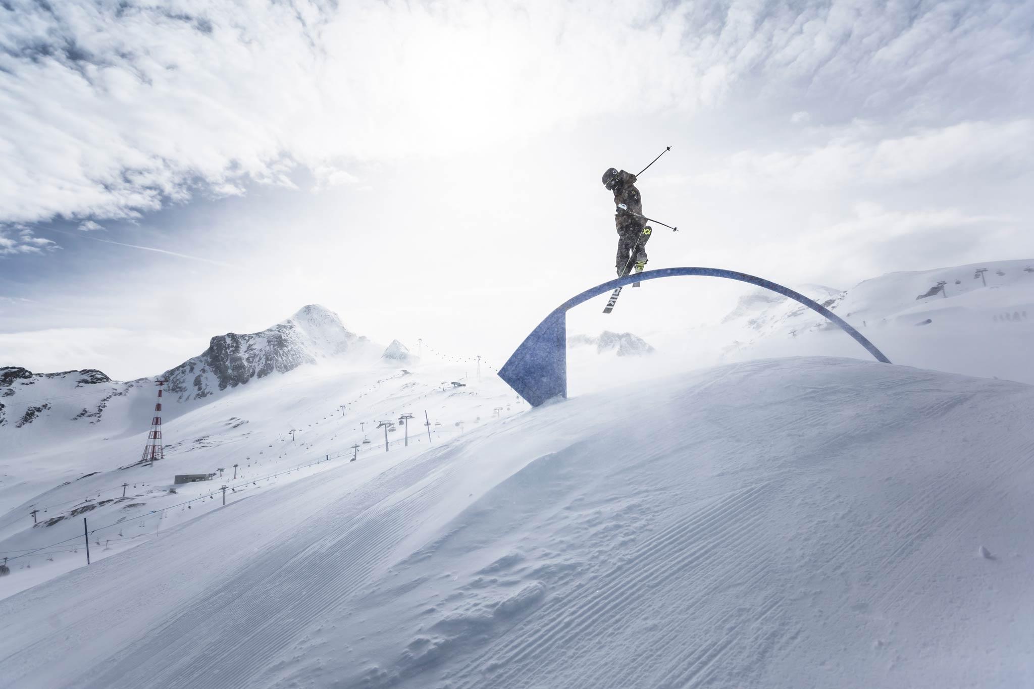 Ab Januar 2019 öffnet dann auch das Herz des Snowparks am Kitzsteinhorn: der Central Park - Foto: Roland Haschka
