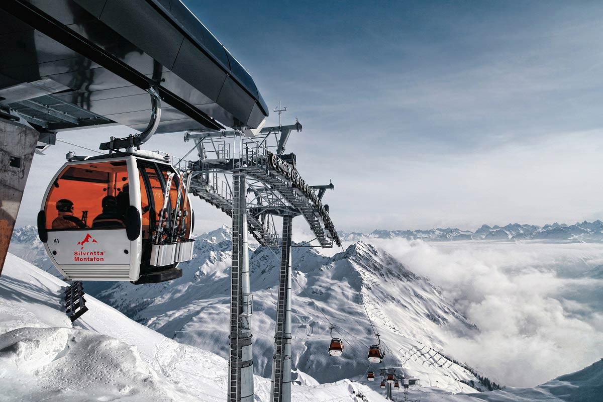 35 Liftanlagen stehen Besuchern im Skigebiet Silvretta Montafon zur Verfügung - Foto: Daniel Zangerl