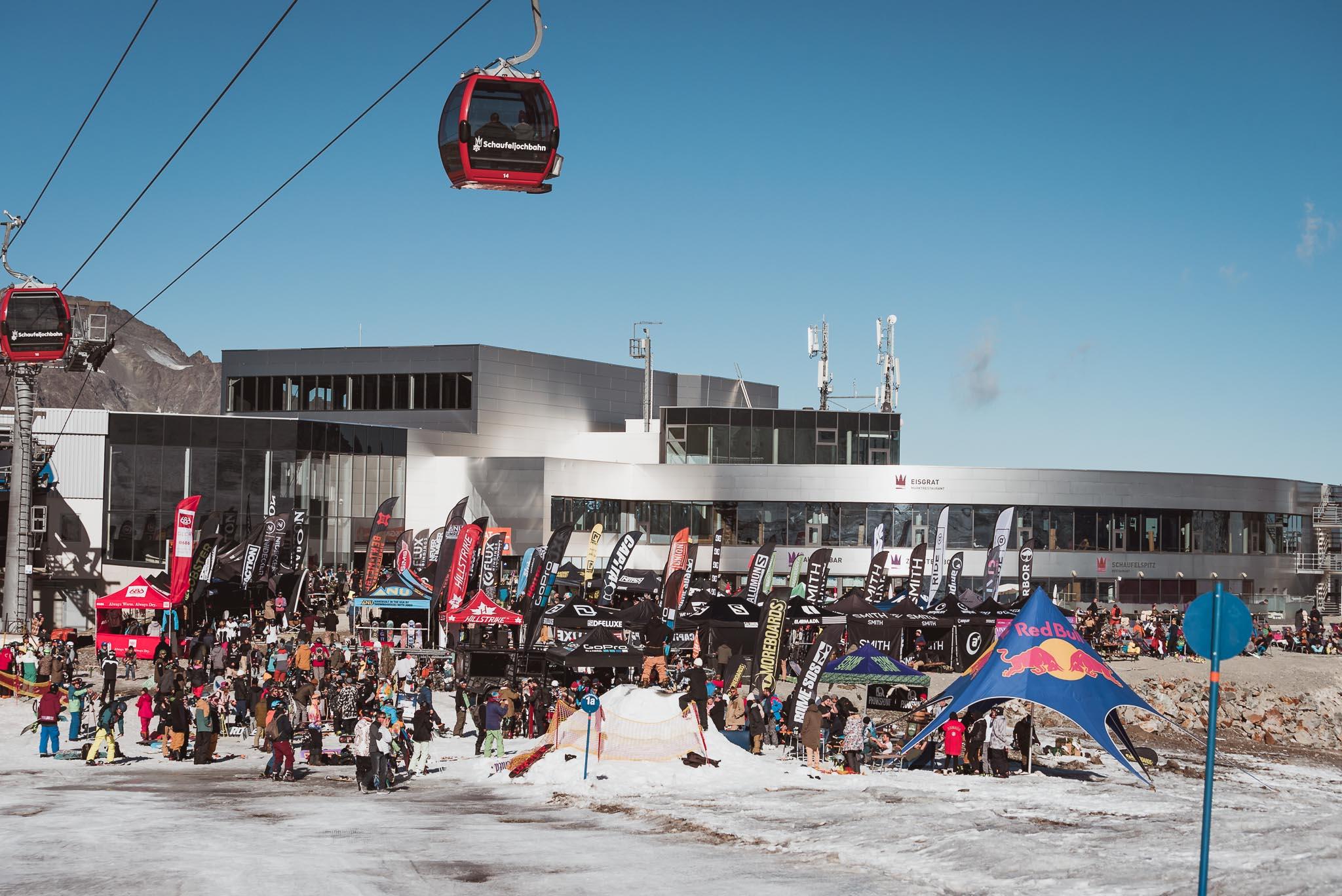 Die Testival Area am Ende der Eisgratbahn
