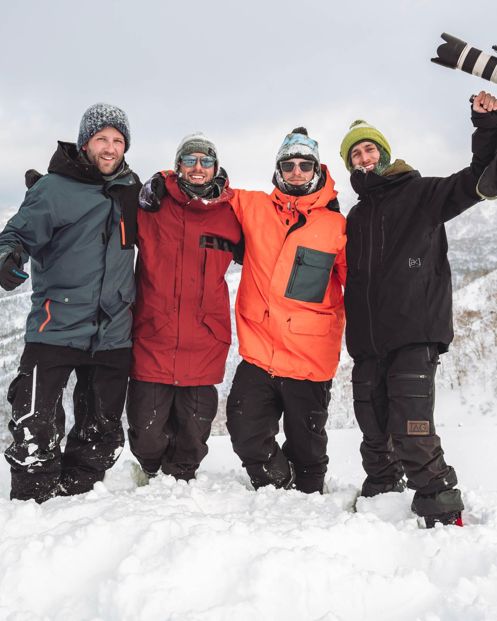 Die Crew: Matthias Fritzenwallner, Josh Absenger, Daniel Maurer und Sebastian Höllwart (v.l.n.r.)