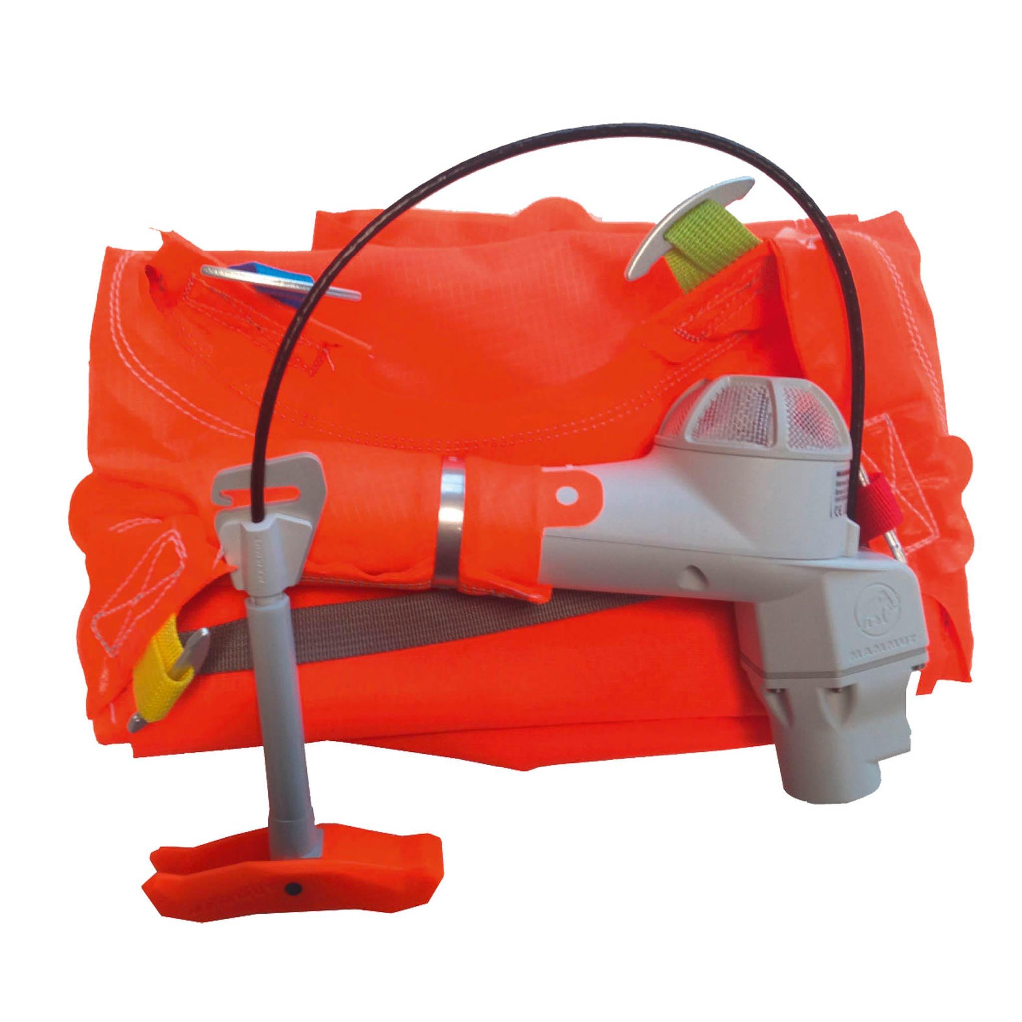 Bei Bedarf kann das extrem leichte und kompakte Airbag-System ausgebaut werden, falls der Rucksack nicht im Backcountry zum Einsatz kommen sollte.