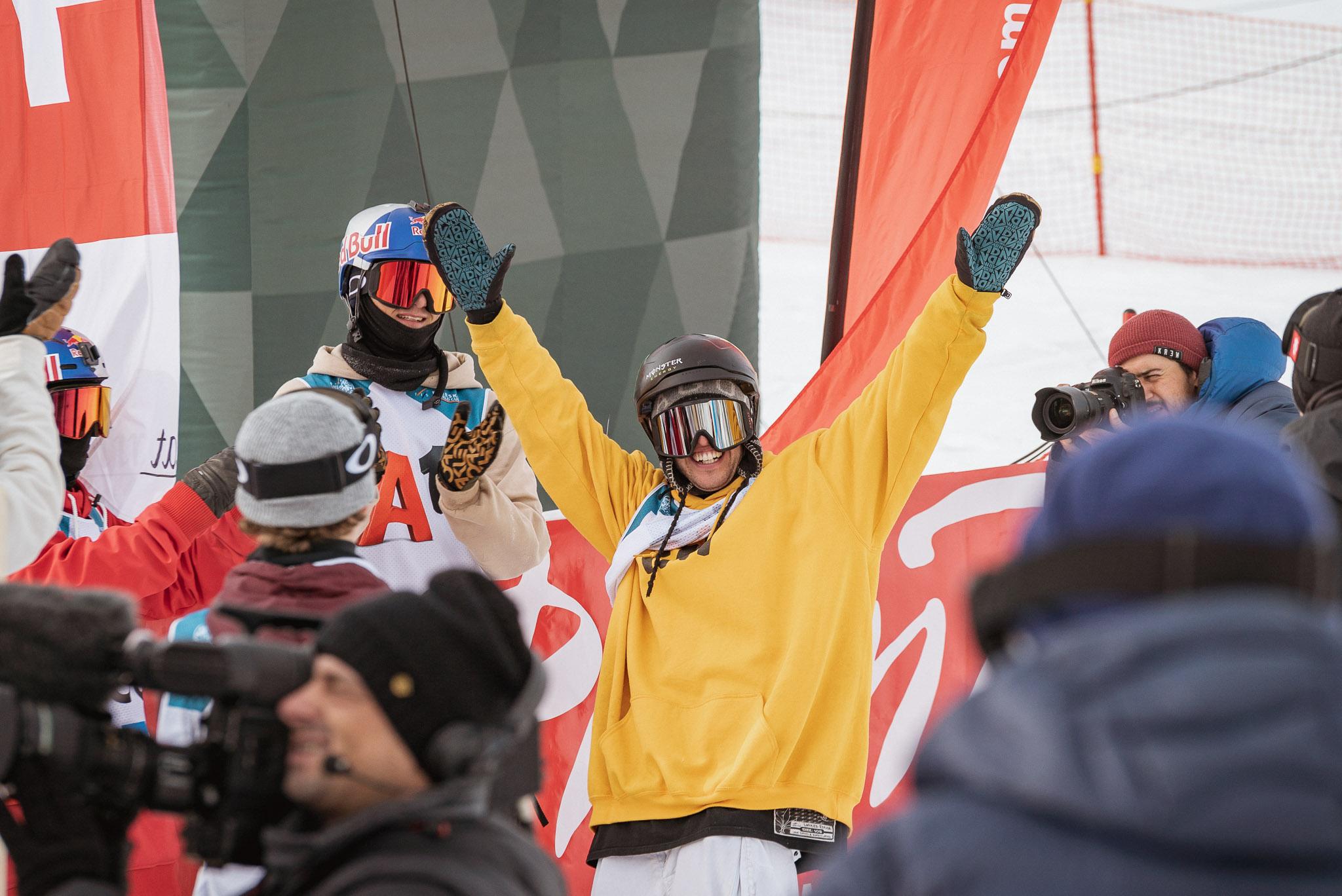Holt den ersten Slopestyle Weltcup Gewinn seiner Karriere: Henrik Harlaut (SWE)