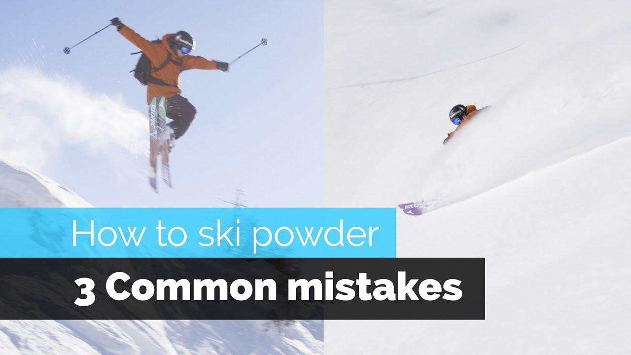Wie man drei häufige Fehler beim Powdern vermeidet