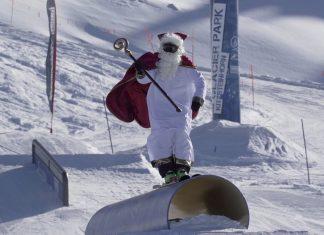 Nikolaus Shred im Snowpark Kitzsteinhorn