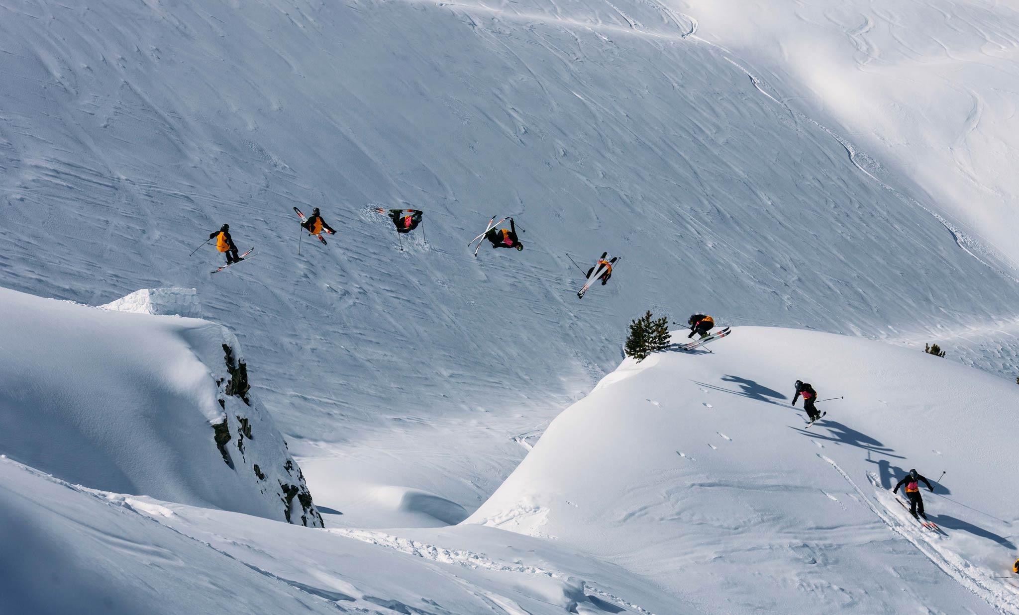Luci geht gerne BIG: Rodeo 7 Blunt an einem nicht zu kleinen Gap in den Alpen - Foto: Marco Schmidt