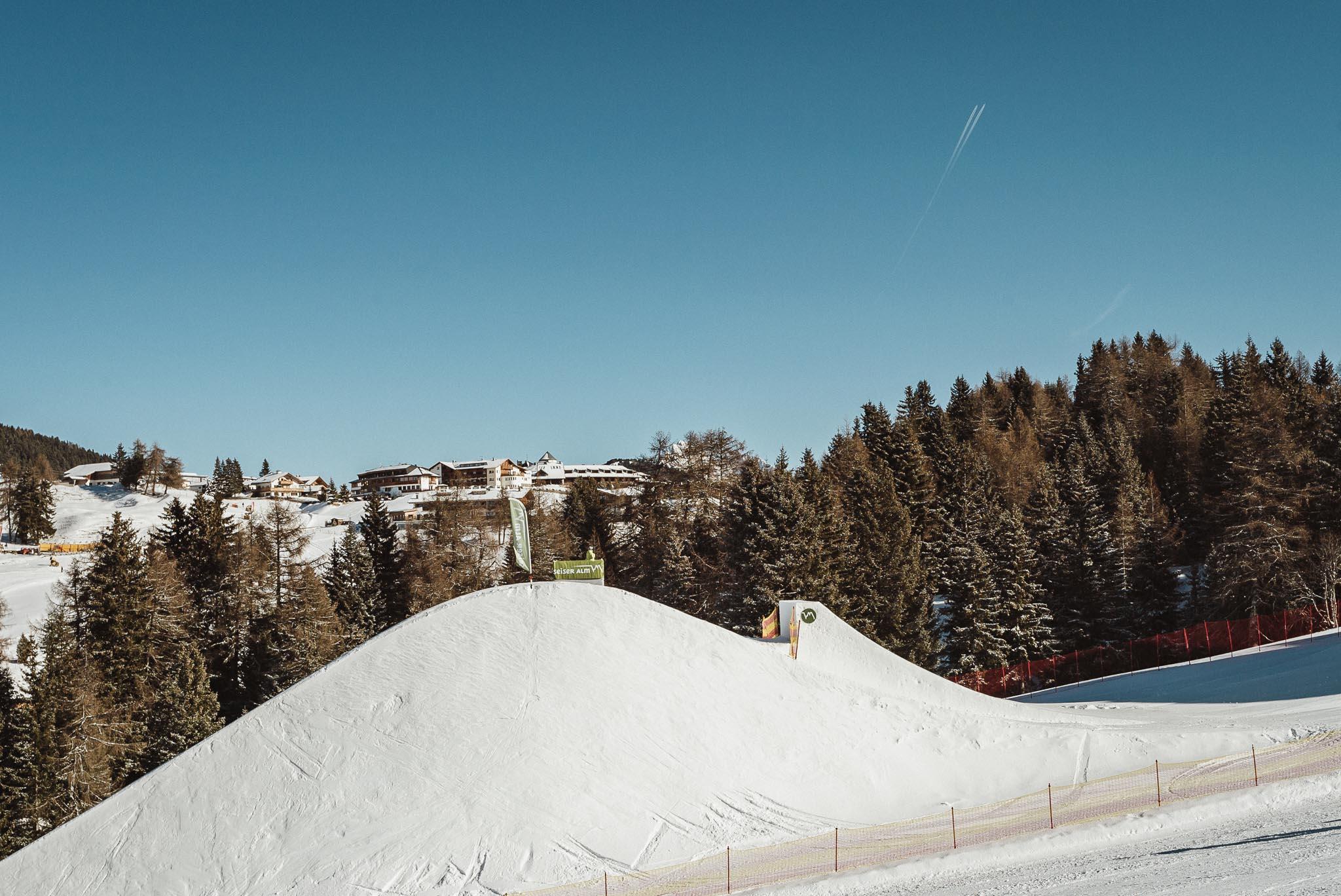 Und zu guter letzt der dritte Pro Jump im Snowpark Seiser Alm.