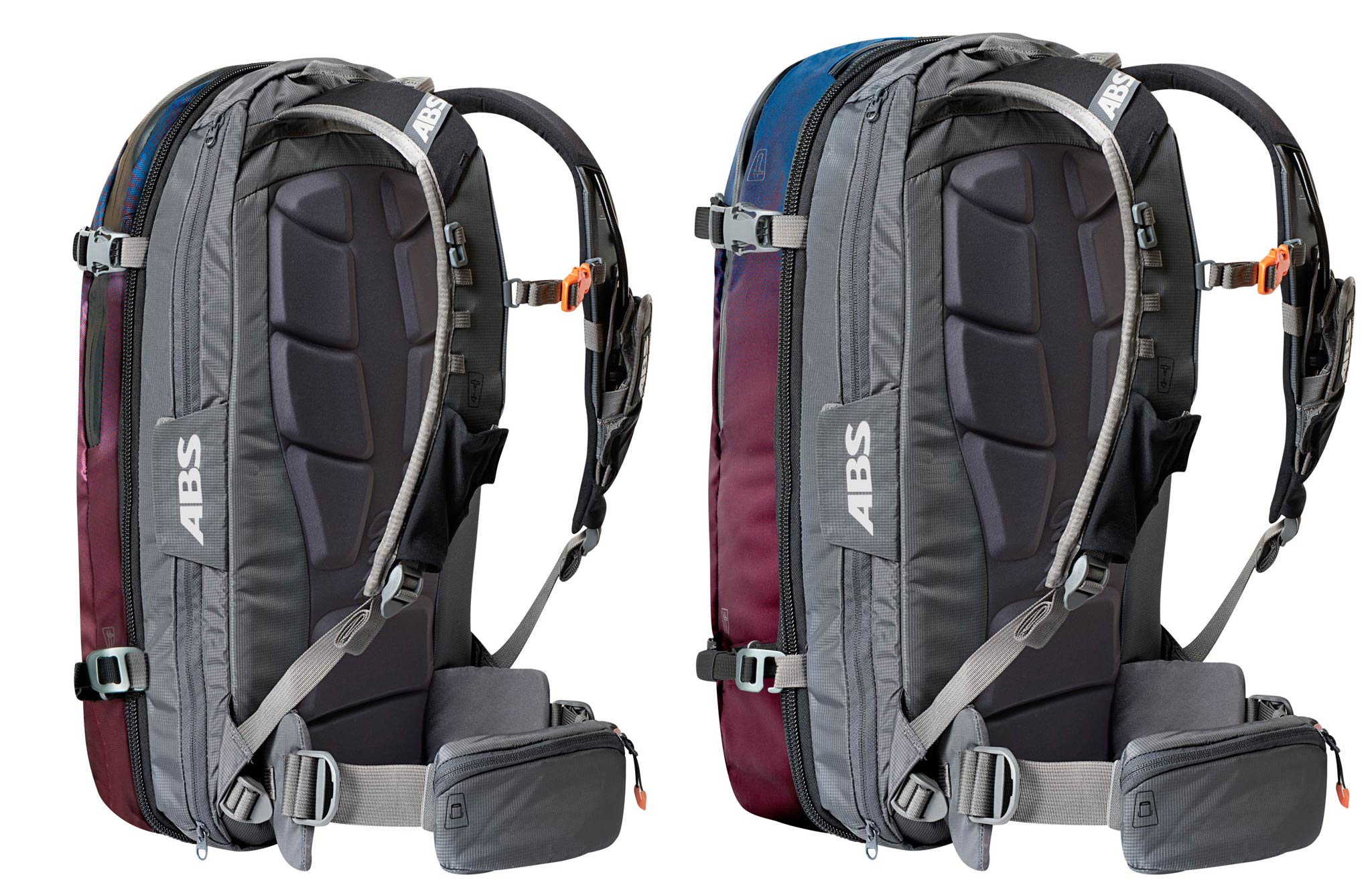 Der neue ABS Zip On DAWN: Links die 15L und rechts die 30L Version