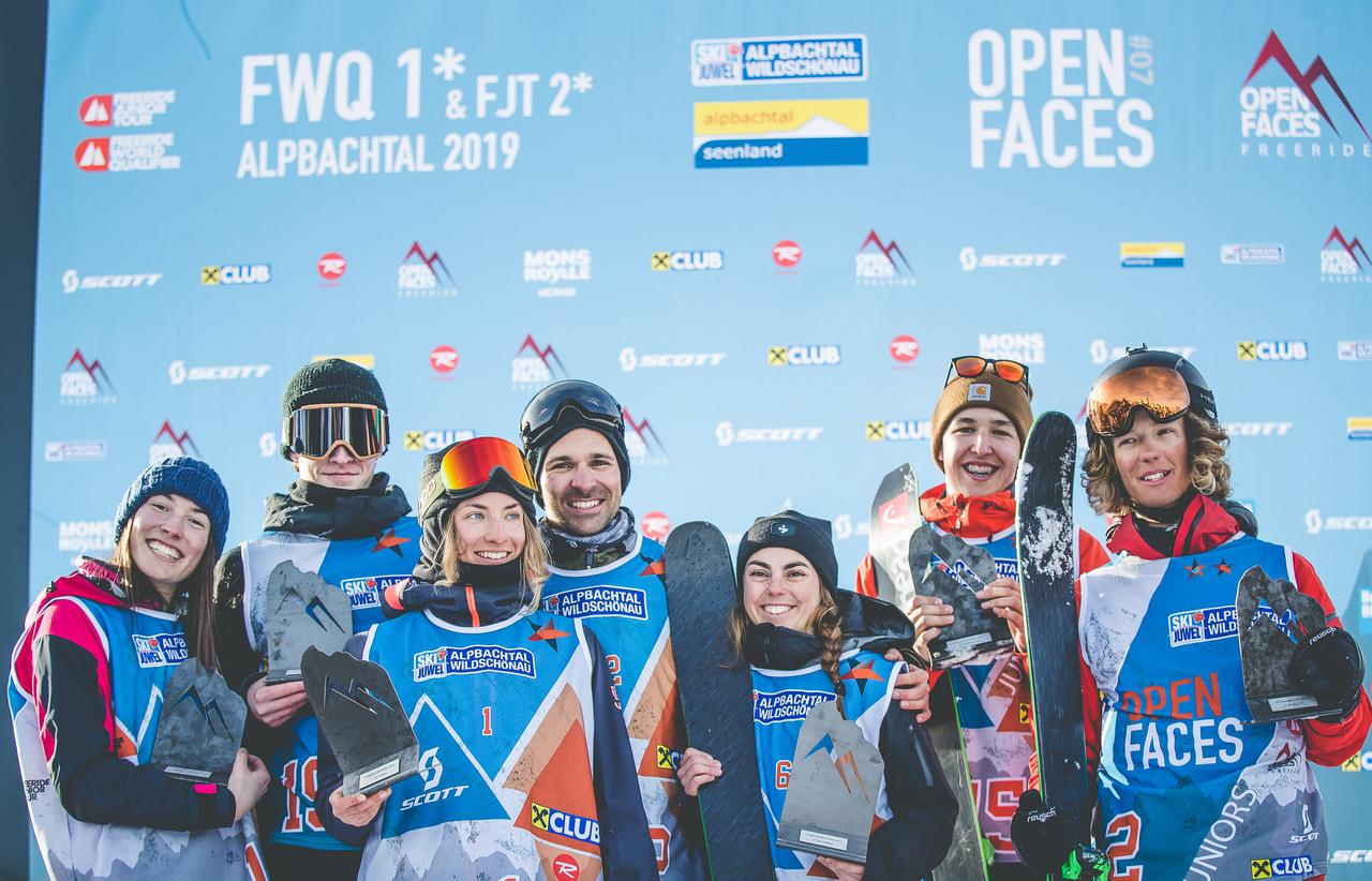 Open Faces Freeride Series 2019: Die Ergebnisse der 1*FWQ + 2*FJT im Alpbachtal
