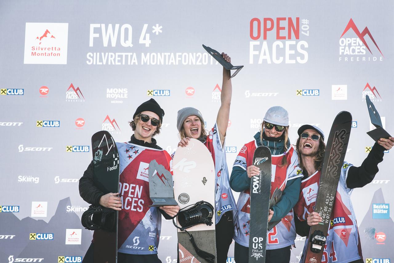 Open Faces Freeride Series 2019: Highlights und Ergebnisse vom 4* FWQ Event in Silvretta/Montafon