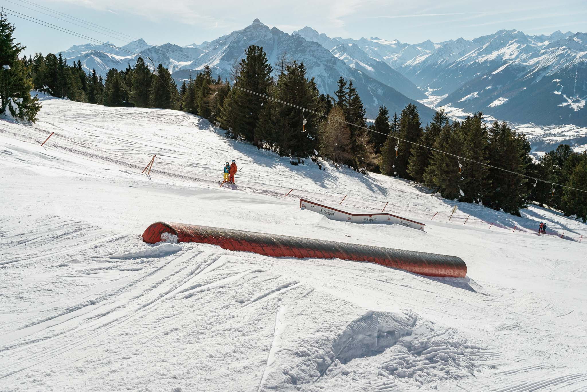 Ebenfalls neu in der Saison 18/19: Ein Metall Tube (ca. 8 Meter) - perfekt für erste Versuche von neuen Tricks