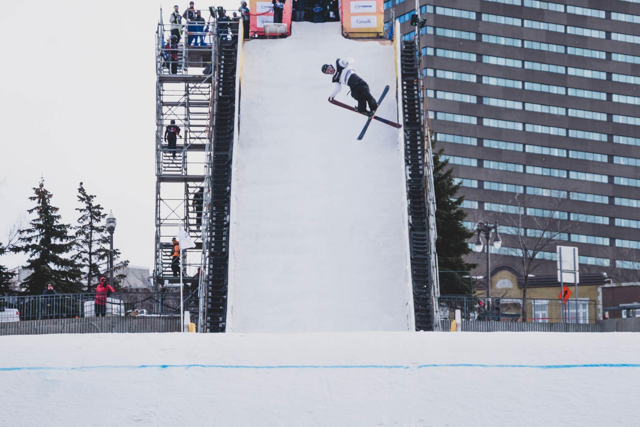 Sicherte sich seinen ersten Weltcup Sieg: Lukas Müllauer aus Österreich - Foto: FIS Freestyle