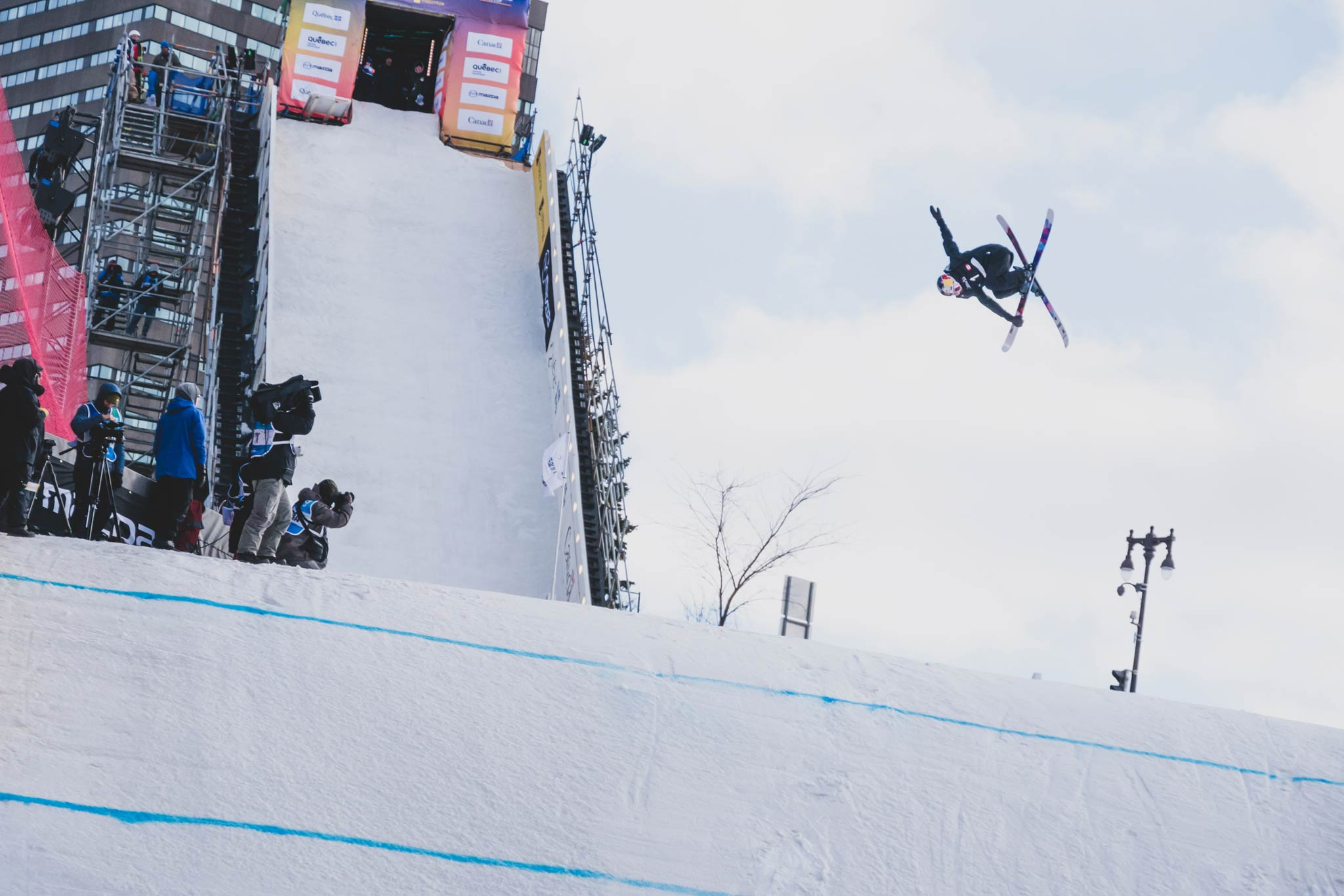 Im Big Air in Quebec City ganz oben auf dem Podium: Mathilde Gremaud aus der Schweiz - Foto: FIS Freestyle