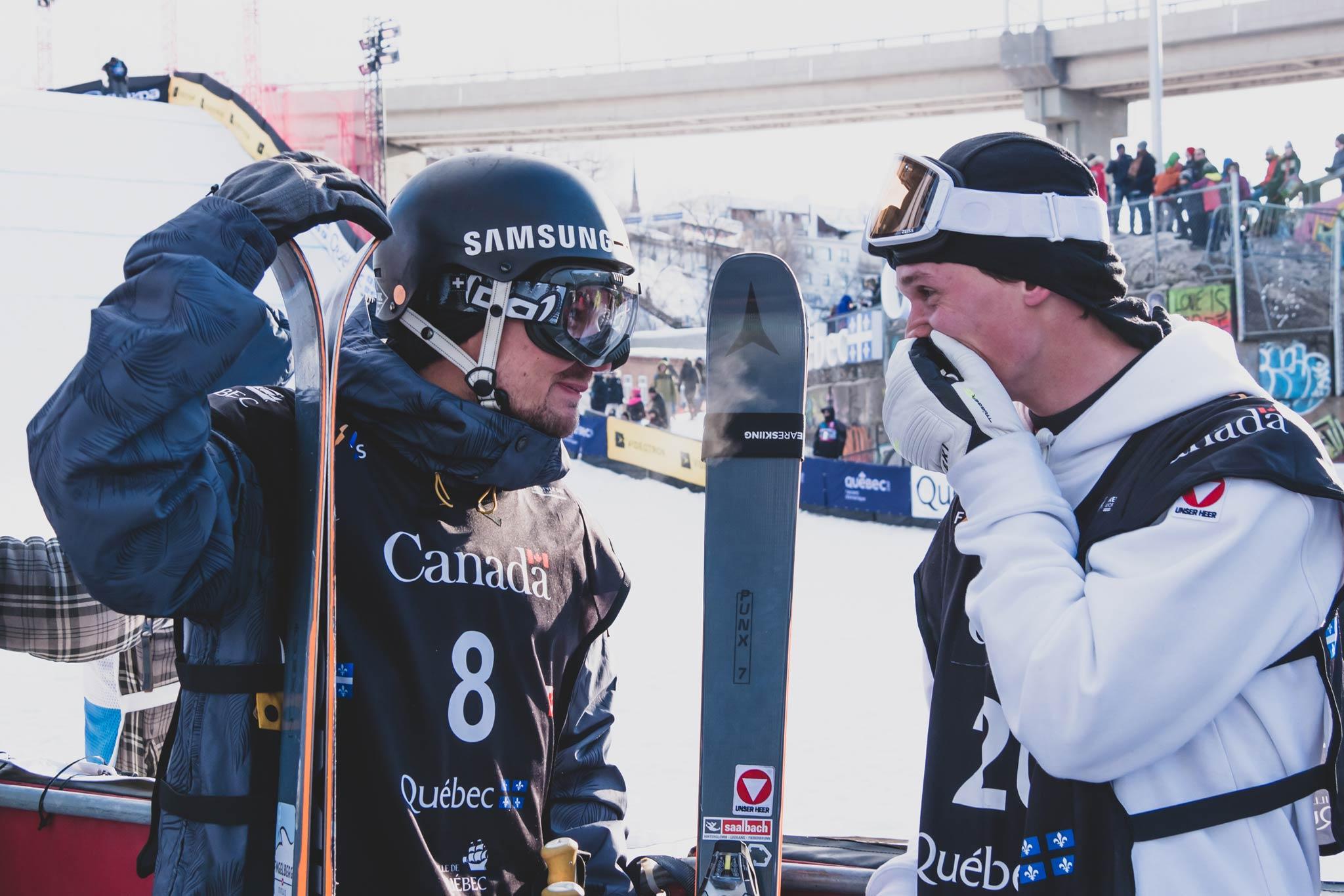 Fabian Bösch und Lukas Müllauer - Foto: FIS Freestyle
