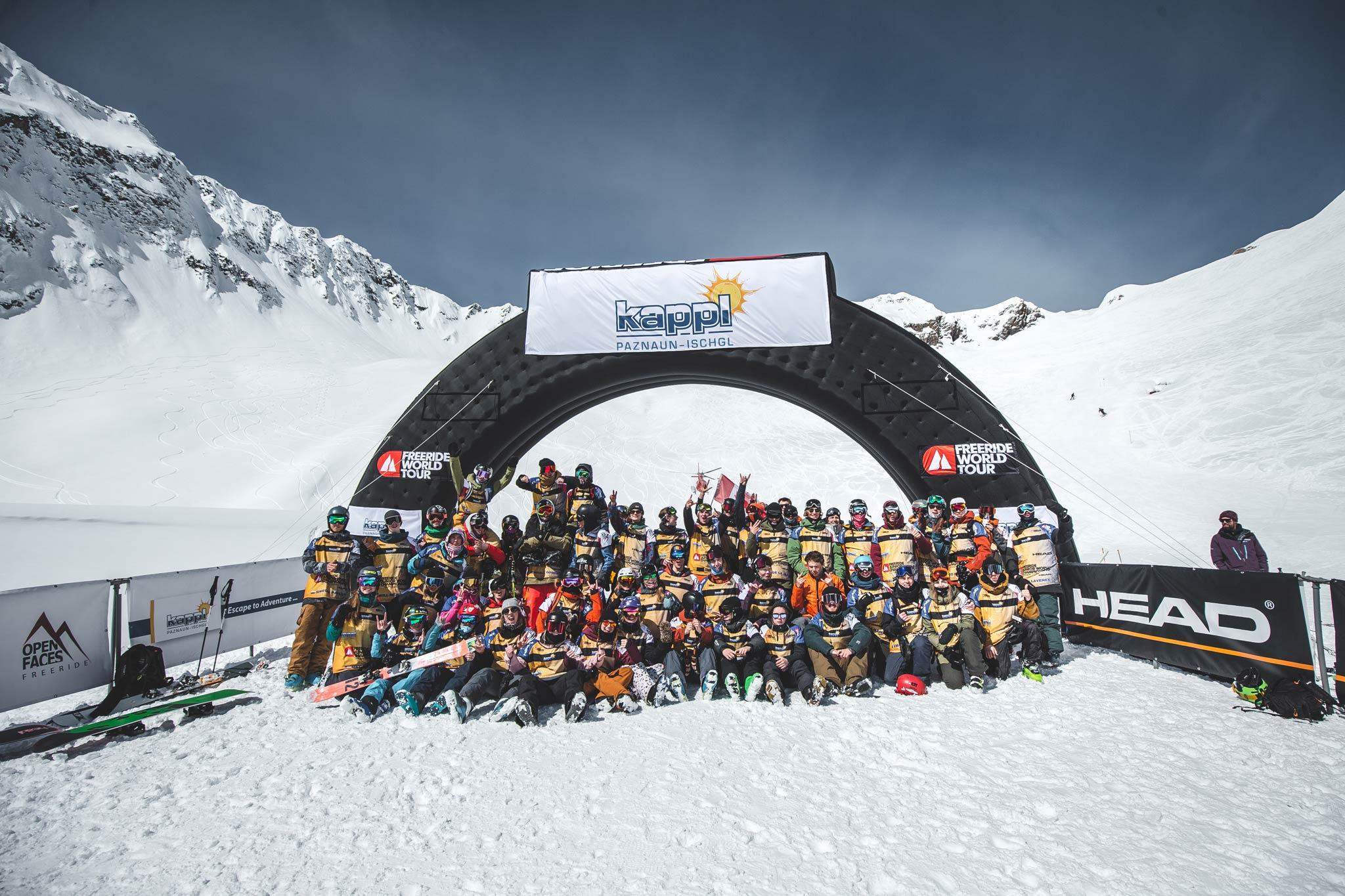 Insgesamt 60 Rider wurden zu den Freeride Junior World Championship 2019 in Kappl eingeladen - Foto: Mia Knoll