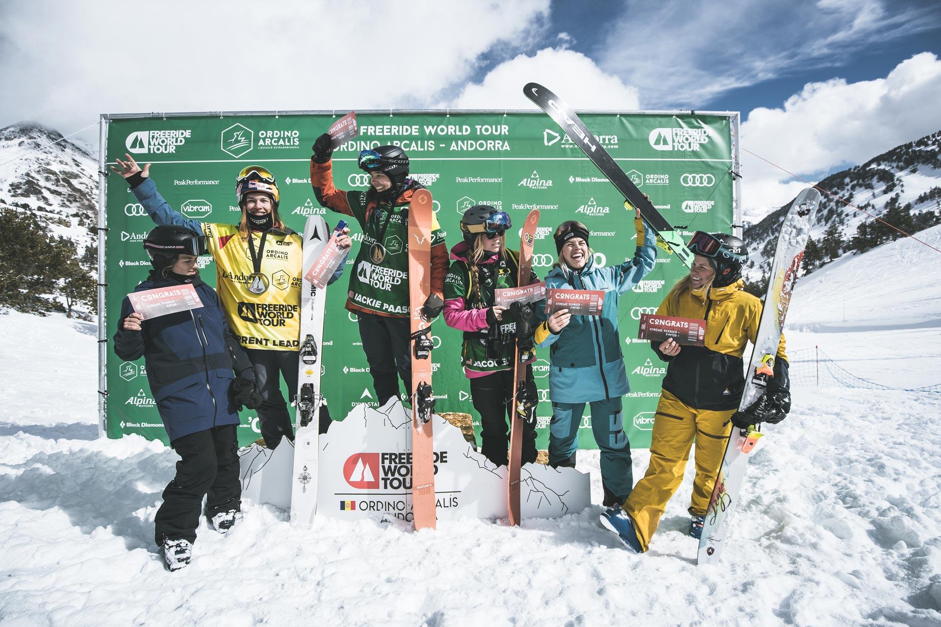 Diese sechs Frauen haben sich für das Finale der Freeride World Tour 2019 qualifiziert. - Foto: freerideworldtour.com / M. Knoll