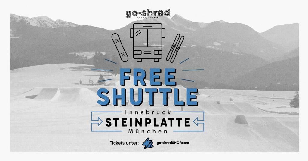 Snowpark Steinplatte: Free Shuttle – go-shred