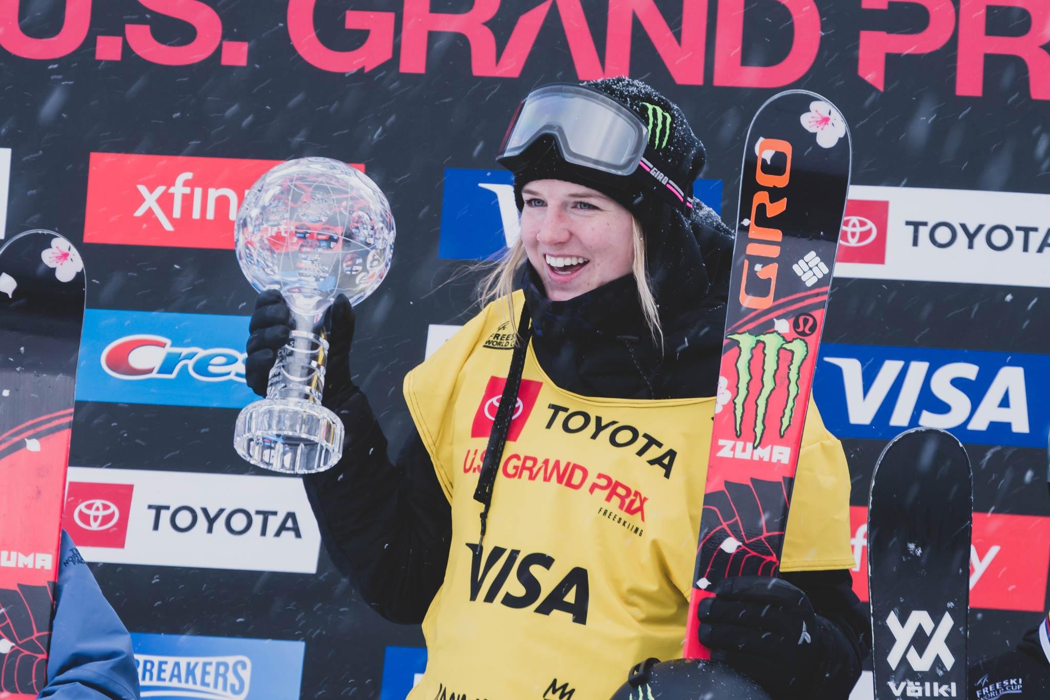 Die Gesamtsiegerin in der Halfpipe in der Saison 2018/2019: Cassie Sharpe aus Kanada. - Foto: FIS Freestyle