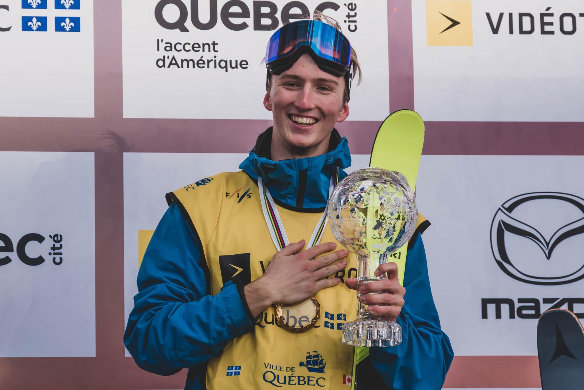 Der World Cup Gesamtsieger in der Disziplin Big Air bei den Männern in der Saison 18/19: Andri Ragettli (SUI) - Foto: FIS Freestyle