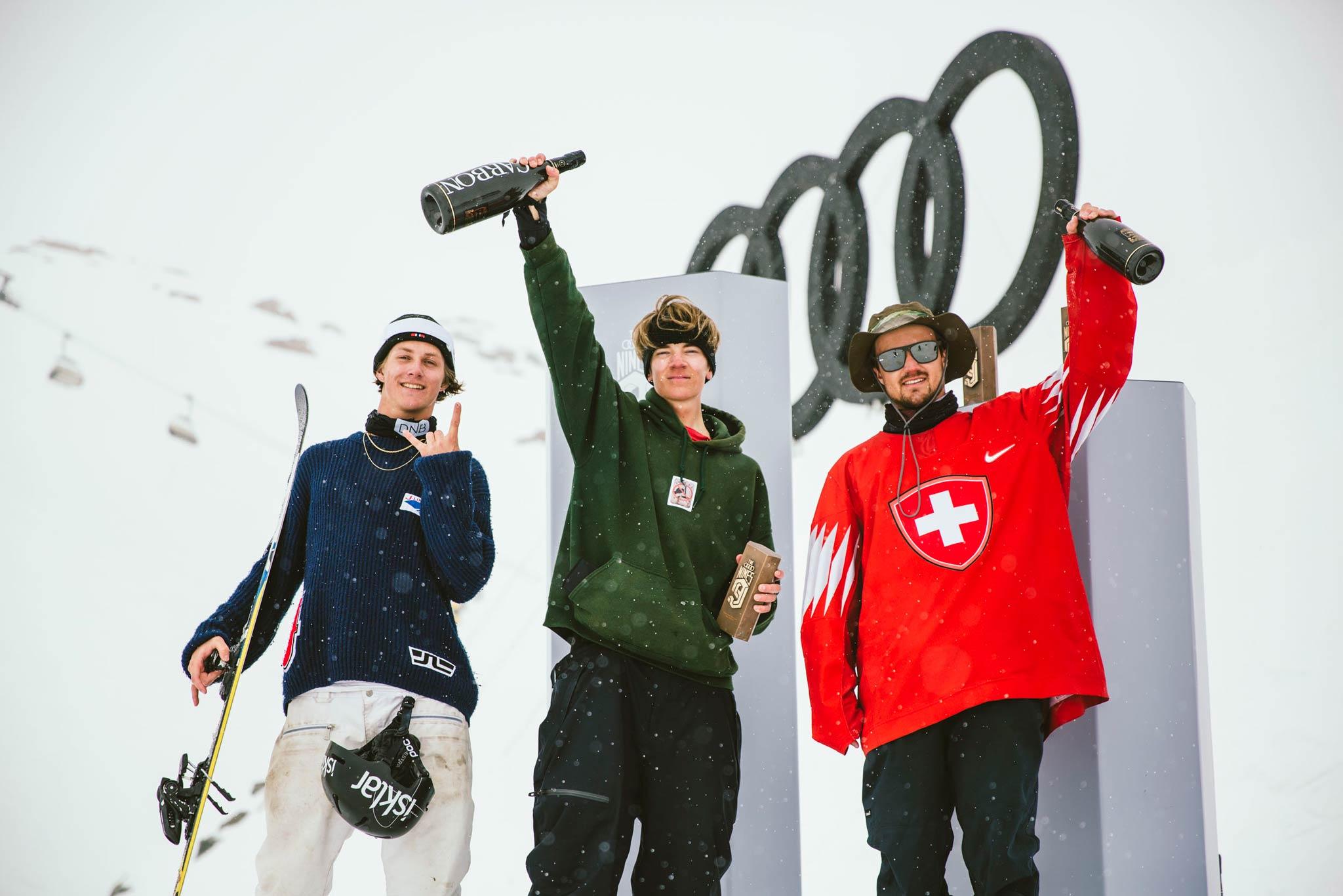 Die Gewinner bei den Männern: Birk Ruud, Eias Syrja & Fabian Bösch - Foto: David Malacrida
