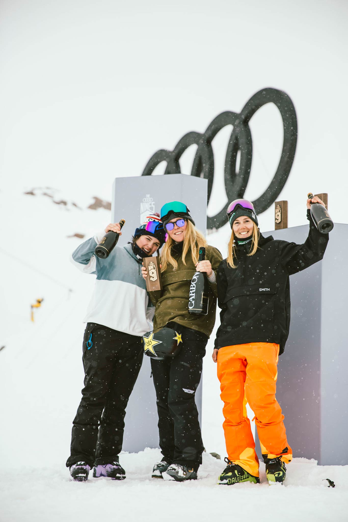 Die Gewinnerinnen bei den Frauen: Elena Gaskell, Johanne Killi & SIlvia Bertagna (v.l.n.r.) - Foto: David Malacrida