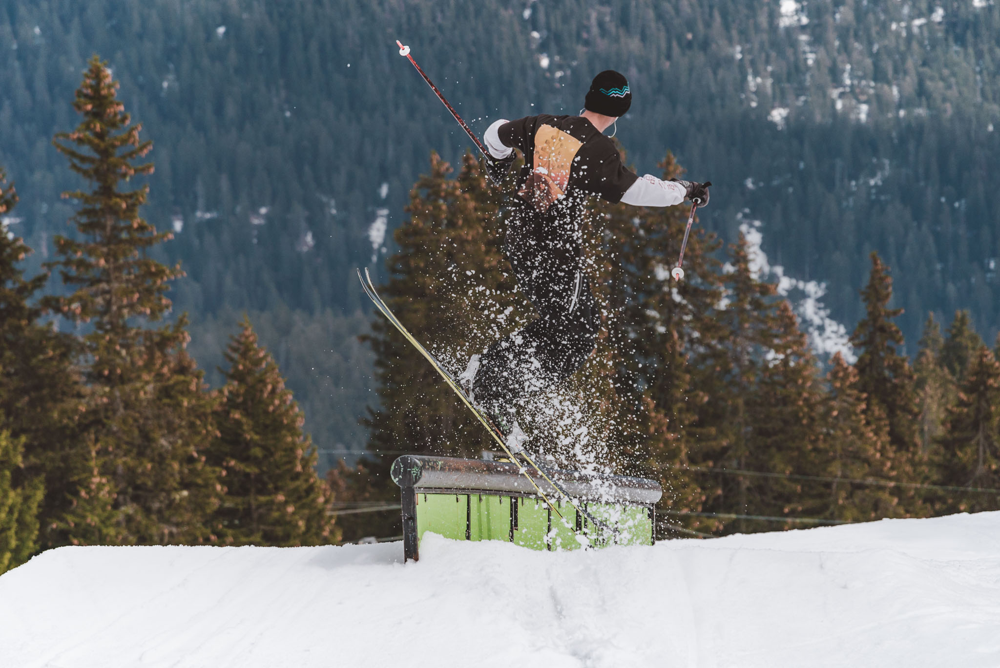 Peace out, es war wie immer nice in Laax, yo - Rider: Severin Guggemoos