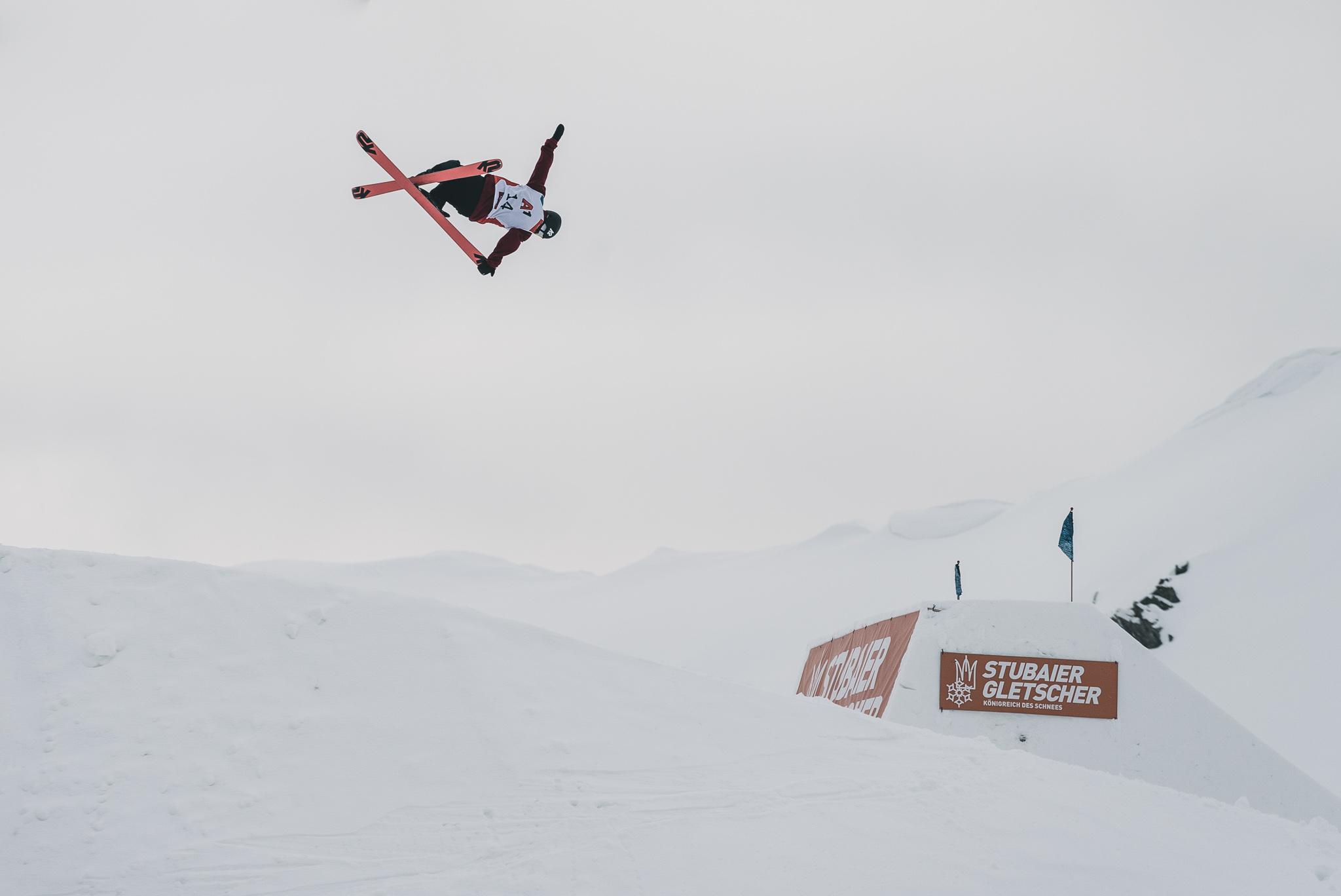 Kea Kühnel beim Freeski World Cup 2018 am Stubaier Gletscher - Foto: Jörg Angeli
