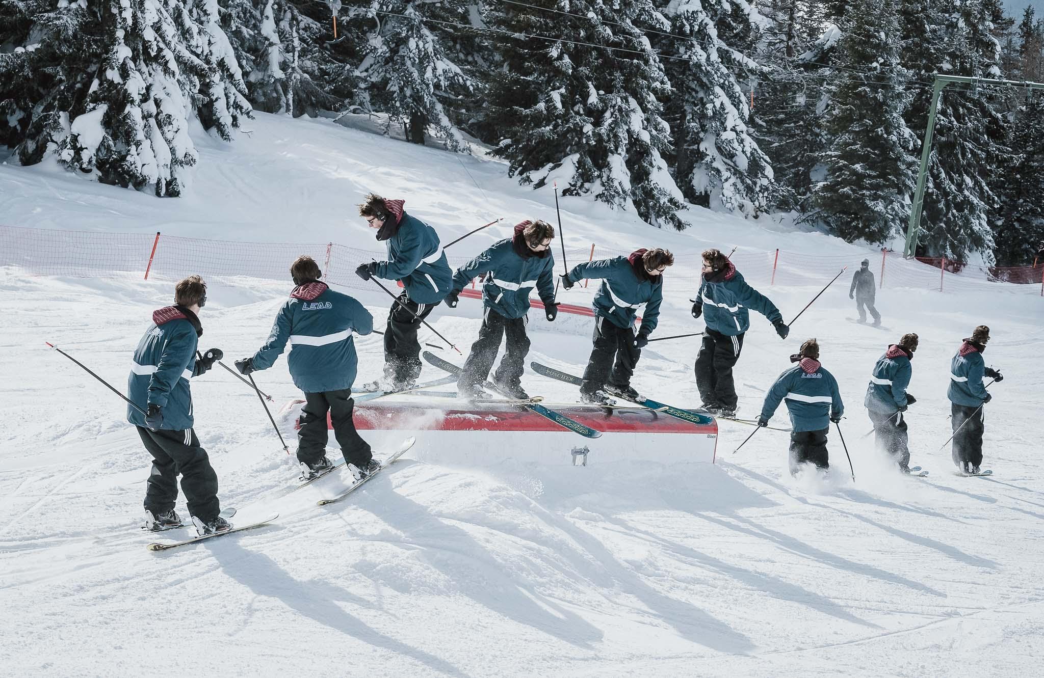 Spot: Snowpark Patscherkofel - Trick: 2 on pretz 2 - Foto: Jörg Angeli