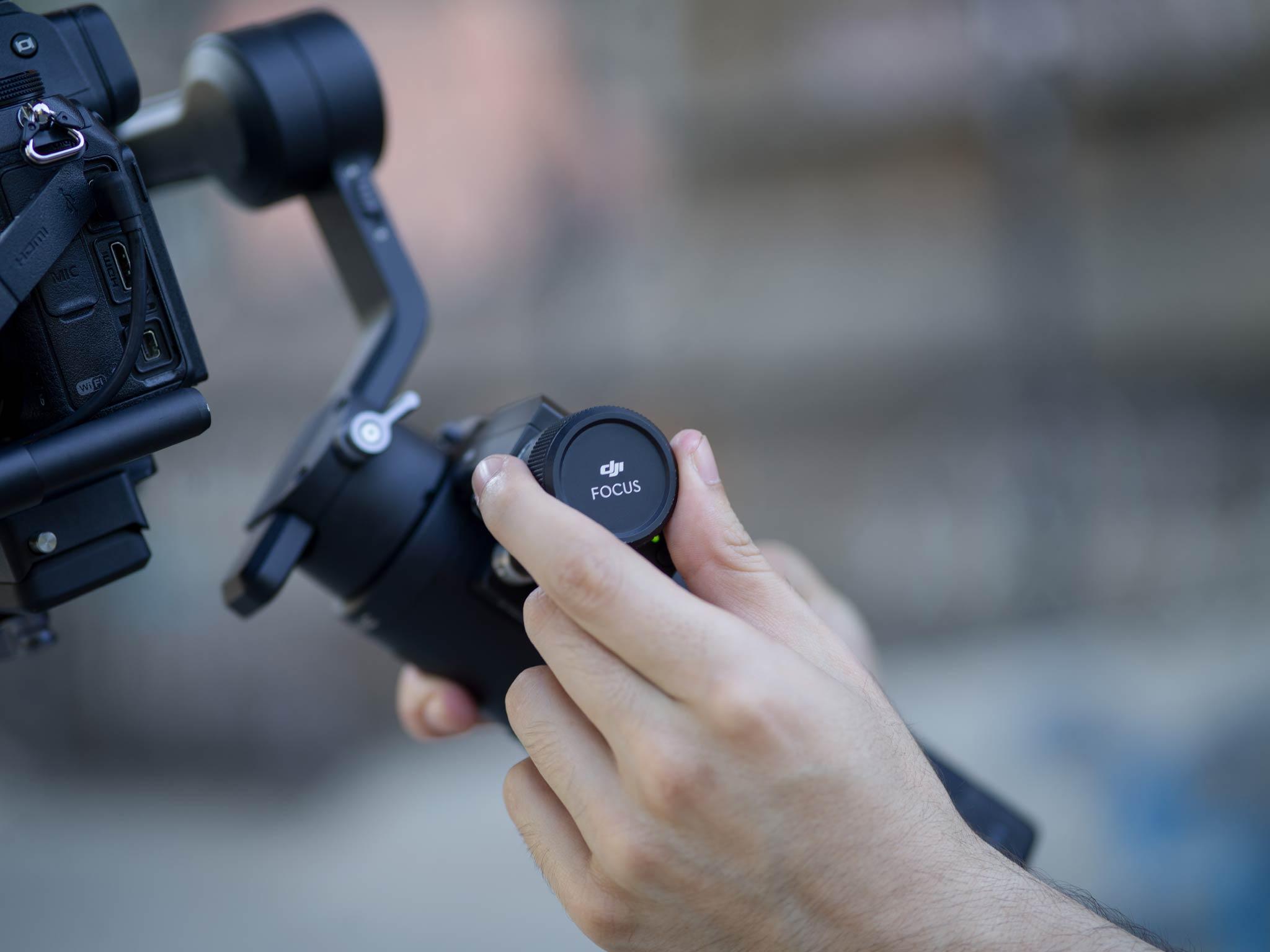 Für den DJI Ronin-SC gibt es eine große Auswahl an Zubehör (pt. 3): Fokusrad - Bild: DJI