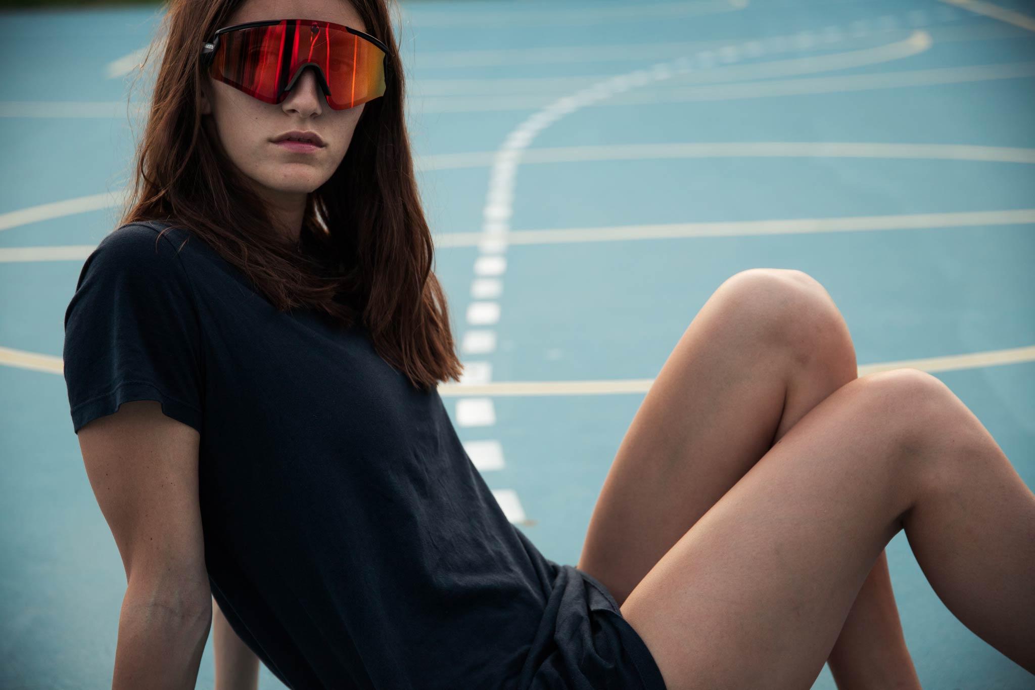 """Naked Optics hat diese Woche ihre Kampagne für ihre neue """"Falcon"""" Sportbrille gestartet. - Model: Franziska Eckerstorfer - Foto: Florian Dorn"""