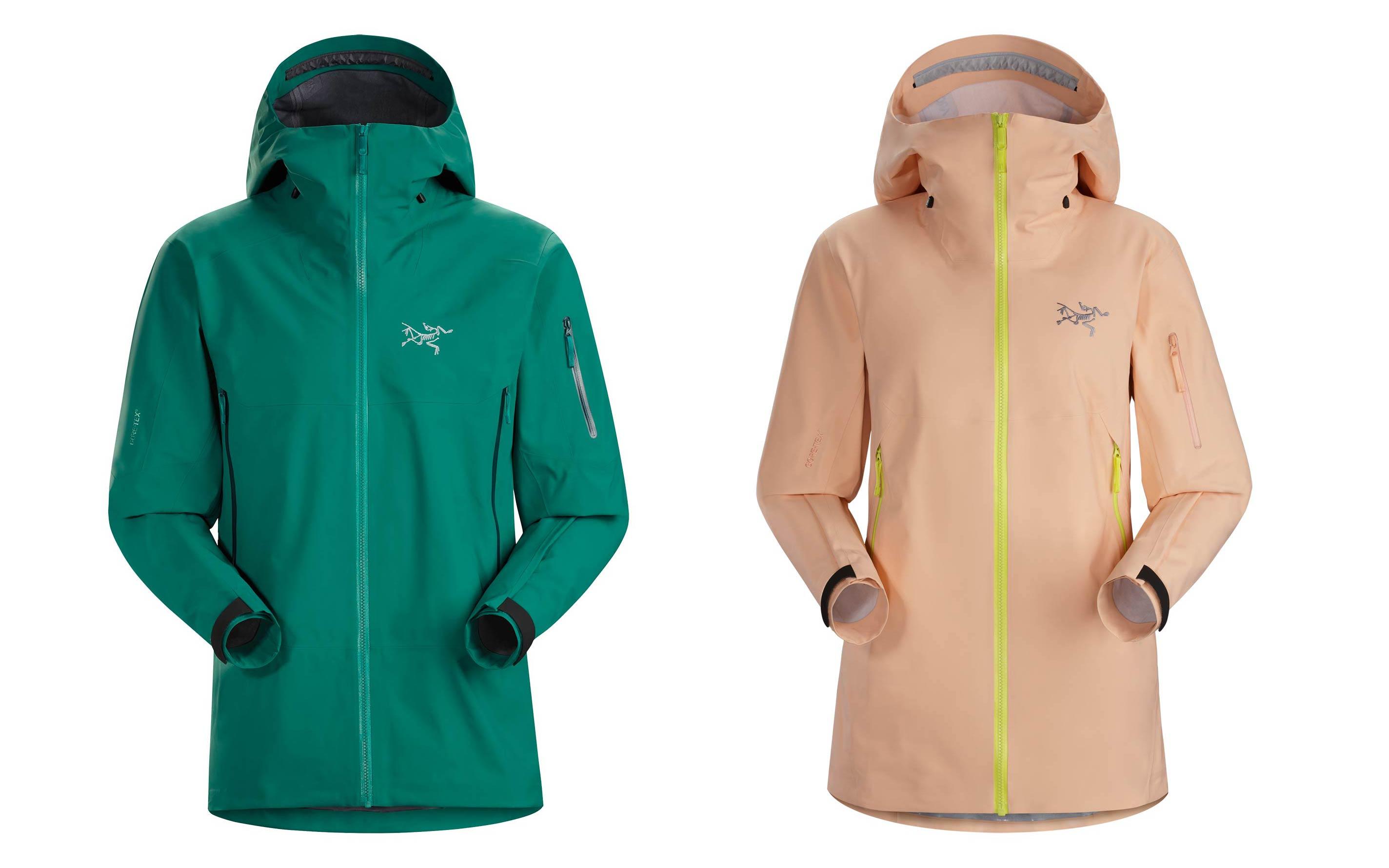 Arc'teryx Sabre AR Jacke für Männer (links) & Sentinel AR Jacke für Frauen (rechts)